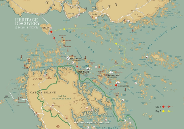 Halong cruise map