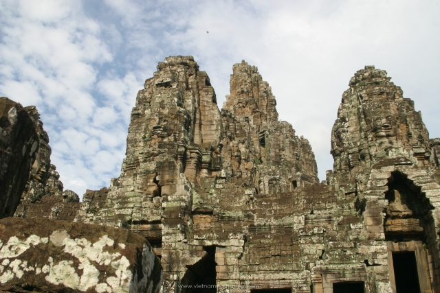 the Bayond Temple in Siemreap