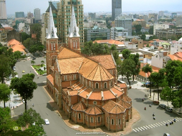 Saigon Cathedral-HCM city (or Saigon) or Hochiminh city