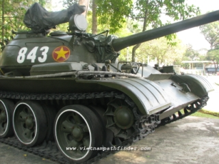 T54 tank at Saigon former palace