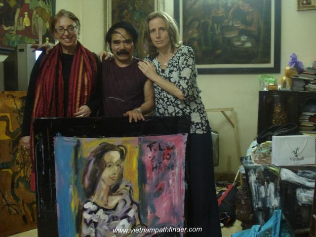 Meet Pham Luc artist at his studio