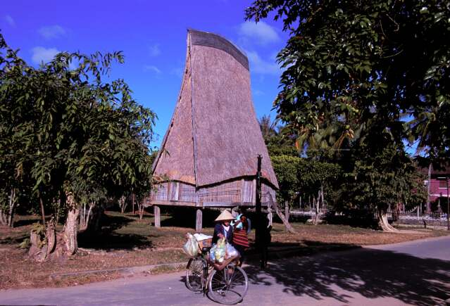 Ethic house in the central highland Vietnam