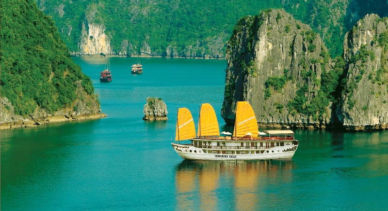 Indochina sail luxury boat