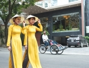 "The ""Ao Dai"", Vietnamese women traditional dress"